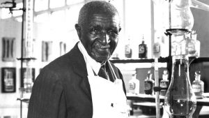 George Washington Carver greets me in his lab